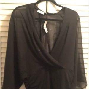 New York & Company black sheer top